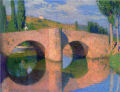 HenriJeanGuillaumeMartin-UnknownDate-Bridge at Labastide-du-Vert.png