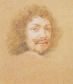 Henri Louis Habert de Montmor - Henri Louis Habert de Montmor Pastel and crayon by Claude Mellan.
