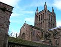 Hereford Cathedral, central tower.jpg