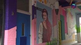 Video: Street art wordt aangebracht in de Hertogstraat en St. Josephhof in Nijmegen