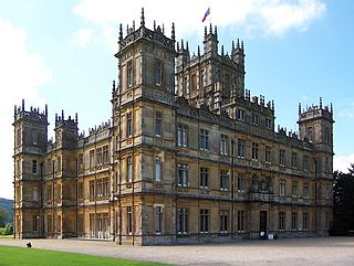 Highclere Castle country house in Hampshire, England