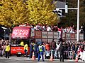 Hinomaru-Sendai Bus OP-13 and OP-11 Rakuten Eagles Victory Parade 2013.jpg