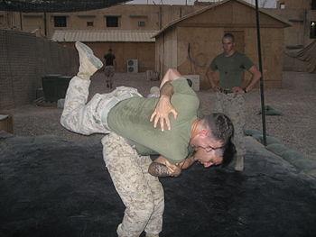 English: U.S. Marine demonstrating a Gray Belt...