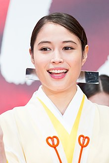 "Hirose Alice from ""MIKO GIRL"" at Opening Ceremony of the Tokyo International Film Festival 2017 (40170041862).jpg"