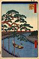 Hiroshige, Five pines, Onagi Canal, 1856.jpg