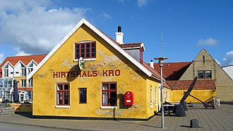 Hirtshals - The Hirtshals Kro pub in the town centre