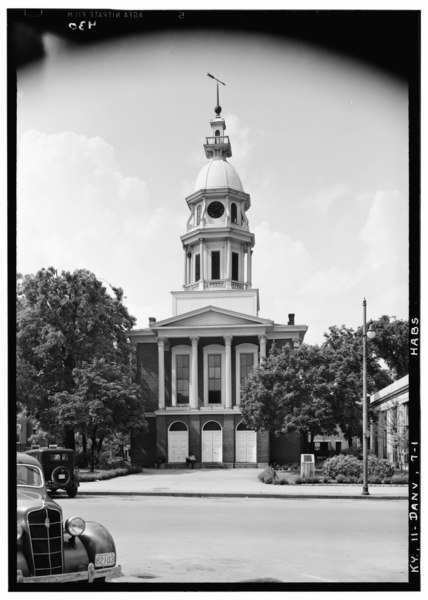 File:Historic American Buildings Survey Lester Jones, Photographer May 30, 1940 SOUTH ELEVATION - Boyle County Courthouse, Danville, Boyle County, KY HABS KY,11-DANV,7-1.tif