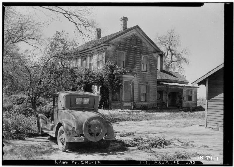 File:Historic American Buildings Survey Roger Sturtevant, Photographer Jan. 17, 1934 GENERAL VIEW - Farmhouse, Alba, San Joaquin County, CA HABS CAL,39-ALBA,1-1.tif