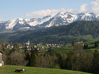 Hittisau Place in Vorarlberg, Austria