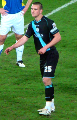Jack Hobbs (footballer) - Hobbs playing for Leicester City in 2010