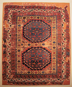 Holbein carpet - Type IV large-pattern Holbein carpet, 16th century, Central Anatolia.