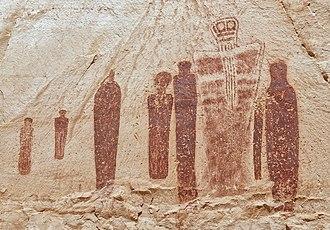 Horseshoe Canyon (Utah) - Holy Ghost panel in the Great Gallery, Horseshoe Canyon.