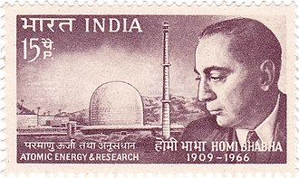 Homi J. Bhabha - Bhabha on a 1966 stamp of India