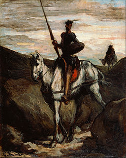 Honore Daumier - Don Quixote in the Mountains - Google Art Project