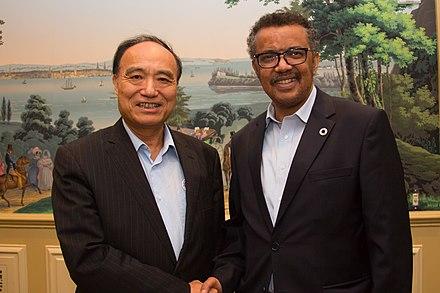 Houlin Zhao with Dr Tedros Adhanom Ghebreyesus - 2017 %2836433272494%29.