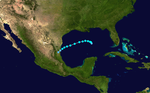 Track map of Tropical storm How