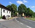Hrob, Křižanov, main street.jpg