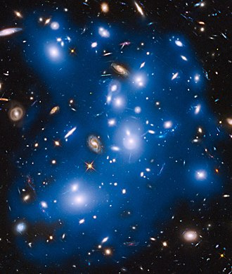 Abell 2744 - Image: Hubble sees ghost light from dead galaxies in galaxy cluster Abell 2744
