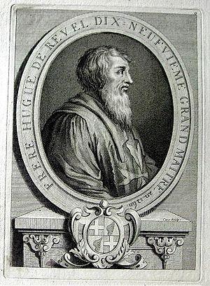 Hugues de Revel - Hugues de Revel, 1725 engraving by Laurent Cars (1699-1771)