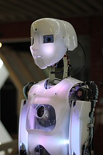 Humanoid robot robot with its body shape built to resemble that of the human body