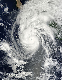 Hurricane Jimena rapidly intensifying on August 29, 2009