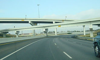 Interstate 69E - The interchange between I-37 and I-69E/US 77 in Corpus Christi.