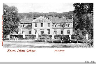 Kadyny - Hohenzollern Palace, about 1902