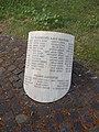 II. világháborús emlékmű, csonkahenger, áldozatok nevei, 2019 Ajka.jpg