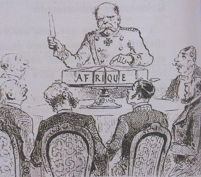 Caricatura de la Conferencia de Berlín, donde las potencias europeas se repartieron África. Autor: Draner, 1884 Fuente: Journal l'Illustration (CC BY-SA 4.0)