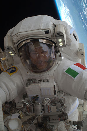Luca Parmitano - Parmitano performing his first EVA