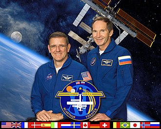 Expedition 12 - Image: ISS Expedition 12 crew