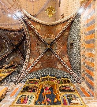 Ceiling in the church of St Felix, Torralba de Ribota, province of Zaragoza, Spain.