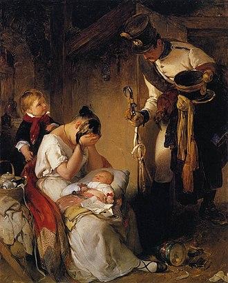 Peter Fendi - The Sad Message (1838)