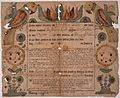 Illustrated family record (Fraktur) found in Revolutionary War Pension and Bounty-Land-Warrant Application File... - NARA - 300059.jpg