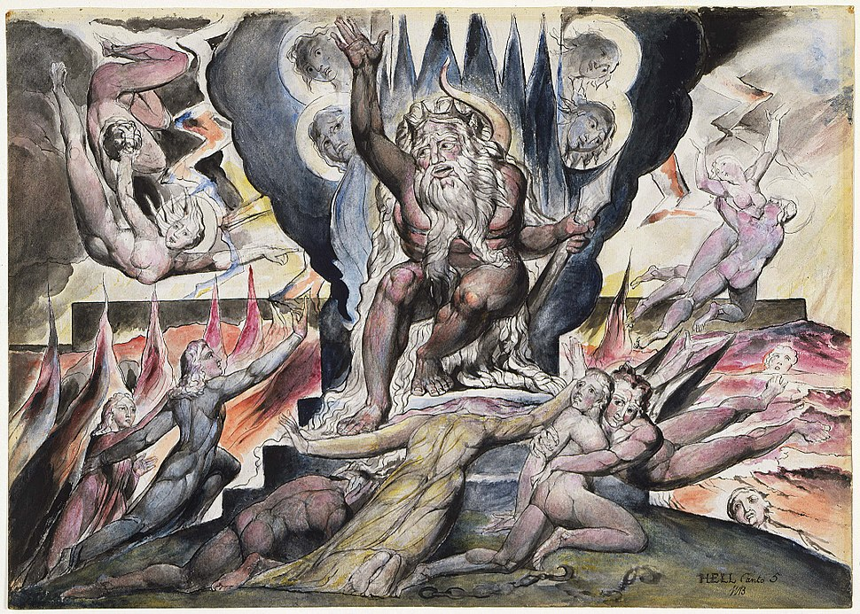 Illustrations to Dante's Divine Comedy object 9 Butlin 812-9Minos