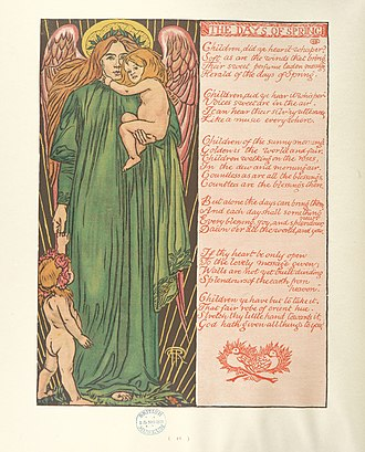Reginald Hallward - Image: Image taken from page 20 of 'Flowers of Paradise. Music, verse, design & illustration by R. F. Hallward' (11200658316)