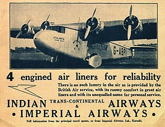 Armstrong Whitworth Atalanta - G-ABPI in the service of Imperial Airways in 1936