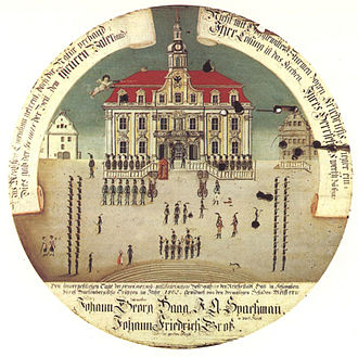 Schwäbisch Hall - The 1802 mediatization of Hall in contemporary imagery