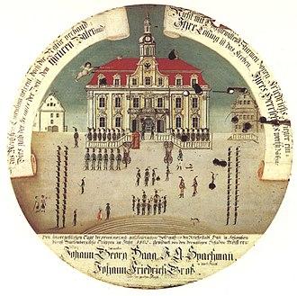 Schwäbisch Hall - The 1802 mediatization of Hall in contemporary imagery