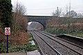 Ince Lane road bridge, Ince and Elton railway station (geograph 3824357).jpg