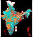 Indische Parlamentswahlen 2009-Koalitionen.png