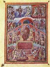 Sąd Salomona – autorstwa Ingobertusa (880)