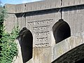 Inscription on the northern side of the A1 bridge at Wansford 'County of Soke of Peterborough' - August 2013 - panoramio.jpg