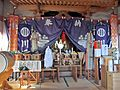 Inside of Heiden of Kawaguchi-jinja shrine in Watari town.JPG