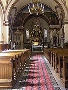 Interior of Roman Catholic Church in Tokaj