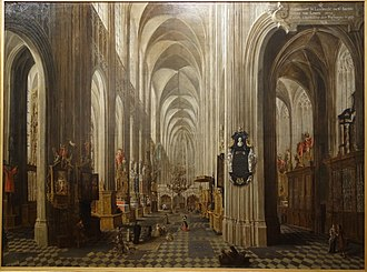 St. Peter's Church, Leuven - Interior of the St. Peter's Church, Leuven by Wolfgang de Smet, 1667