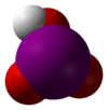 Space-filling model of iodic acid