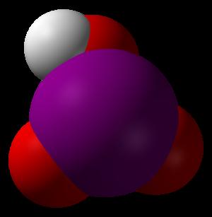 Iodic acid - Image: Iodic acid 3D vd W