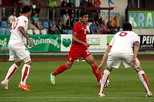 Alireza Jahanbakhsh - Jahanbakhsh playing for Iran in a friendly match against Montenegro, 26 May 2014