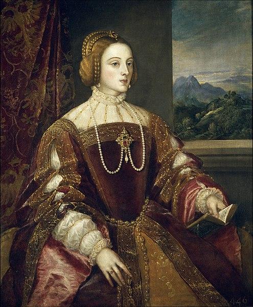 Retrato de la emperatriz Isabel de Portugal por Tiziano (1548), Museo del Prado, Madrid, España.